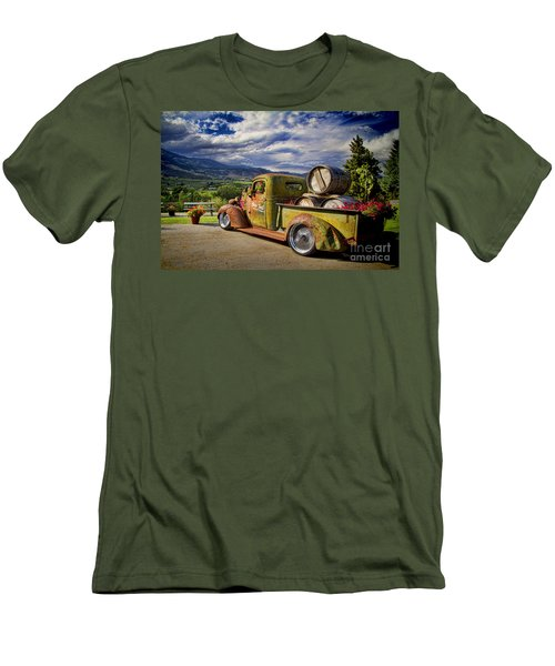 Vintage Chevy Truck At Oliver Twist Winery Men's T-Shirt (Athletic Fit)