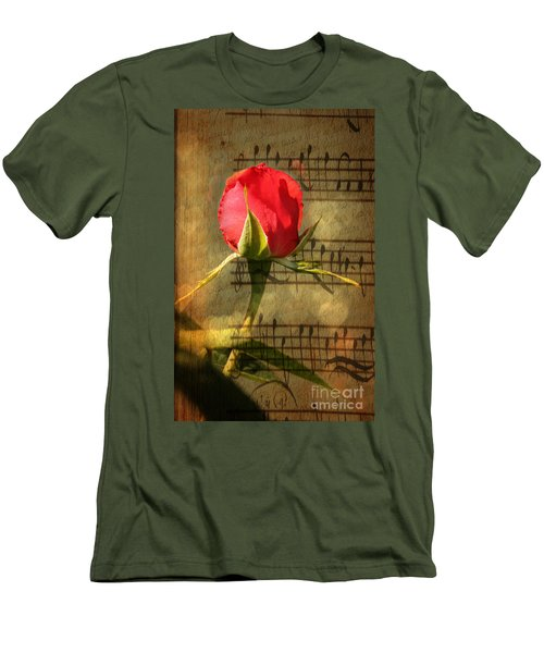 Men's T-Shirt (Slim Fit) featuring the photograph Vintage Love Story Symphony by Judy Palkimas