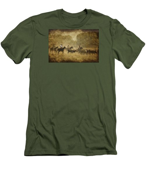 Vintage Roundup Men's T-Shirt (Slim Fit) by Priscilla Burgers