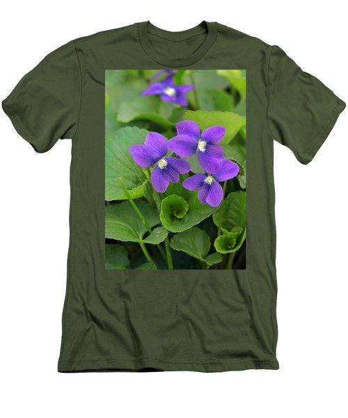 Violet Trio Men's T-Shirt (Athletic Fit)