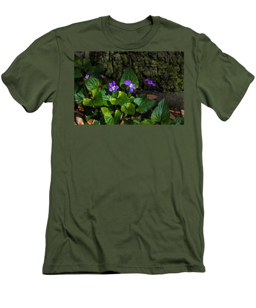 Violets Men's T-Shirt (Slim Fit) by Dorothy Cunningham
