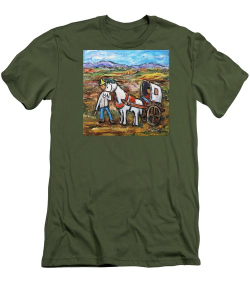Men's T-Shirt (Slim Fit) featuring the painting Visit The In-laws by Xueling Zou
