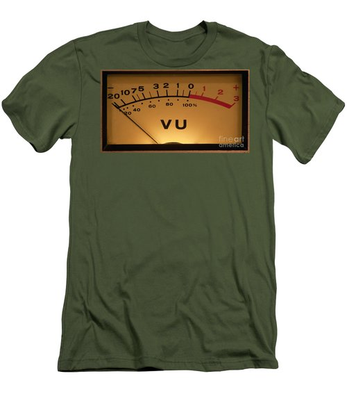 Vu Meter Illuminated Men's T-Shirt (Athletic Fit)