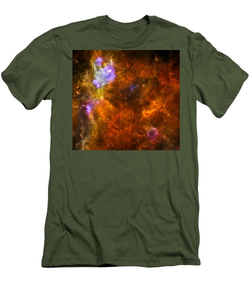 Men's T-Shirt (Slim Fit) featuring the photograph W3 Nebula by Science Source