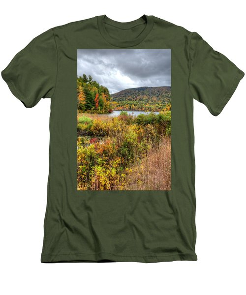 Wachusett Mt. In Autumn Men's T-Shirt (Athletic Fit)