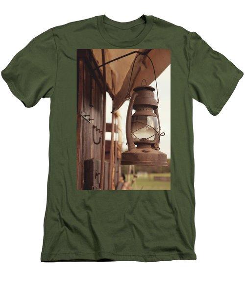 Wagon Lantern Men's T-Shirt (Slim Fit) by Toni Hopper