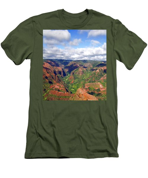 Men's T-Shirt (Slim Fit) featuring the photograph Waimea Canyon by Amy McDaniel