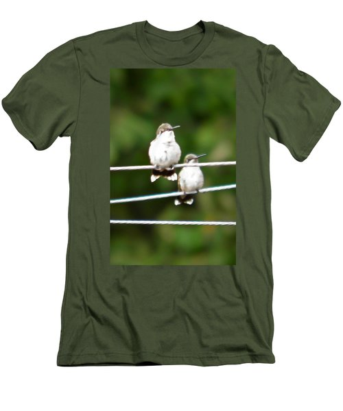 Men's T-Shirt (Slim Fit) featuring the photograph Waiting Our Turn by Nick Kirby