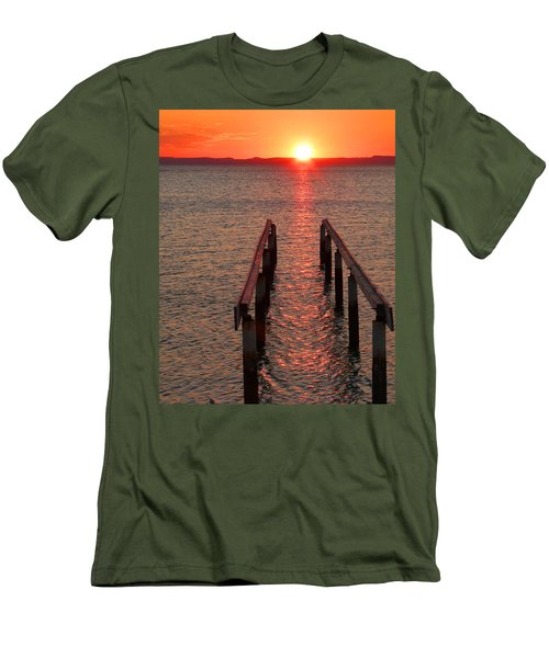 Men's T-Shirt (Slim Fit) featuring the photograph Walkway To The Sun by Alan Socolik