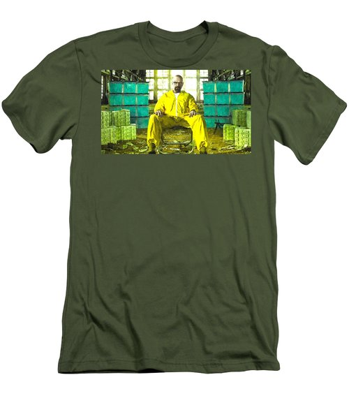 Walter White As Heisenberg Painting Men's T-Shirt (Athletic Fit)