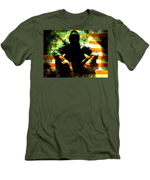 Men's T-Shirt (Slim Fit) featuring the painting War Is Hell by Brian Reaves