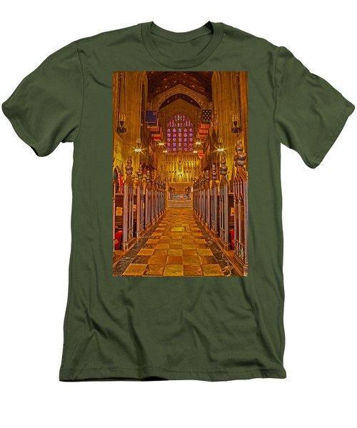 Washington Memorial Chapel Altar Men's T-Shirt (Slim Fit) by Michael Porchik