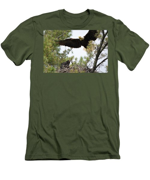 Watch Out Below Men's T-Shirt (Slim Fit) by Bonfire Photography