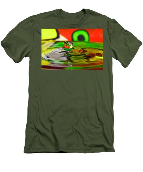 Men's T-Shirt (Slim Fit) featuring the photograph Water Drop by Peter Lakomy
