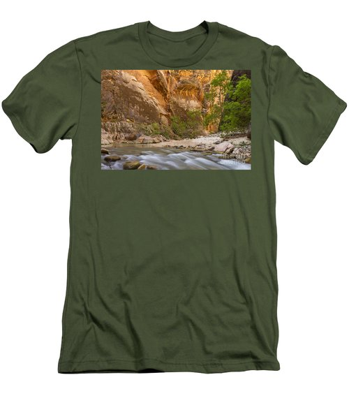 Men's T-Shirt (Slim Fit) featuring the photograph Water In The Narrows by Bryan Keil