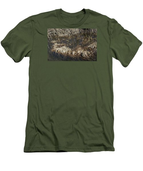 Men's T-Shirt (Slim Fit) featuring the photograph Dried Grass In The Water by Teo SITCHET-KANDA