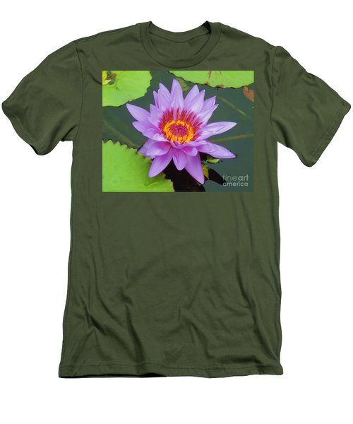 Water Lilies 005 Men's T-Shirt (Athletic Fit)