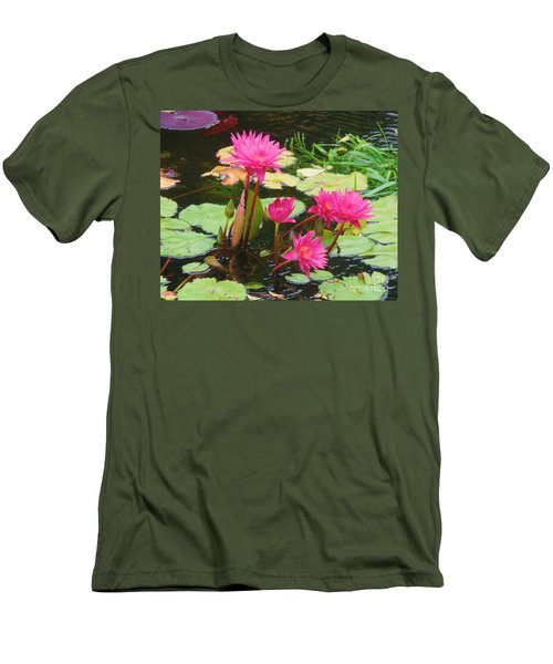 Water Lilies 008 Men's T-Shirt (Athletic Fit)