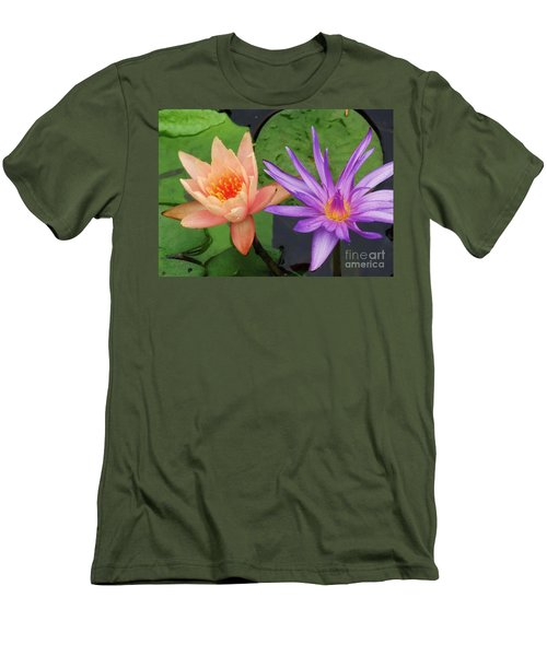 Water Lilies 011 Men's T-Shirt (Athletic Fit)