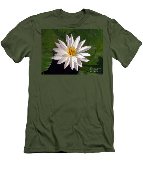 Men's T-Shirt (Slim Fit) featuring the photograph Water Lily by Sergey Lukashin