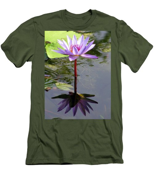 Water Lily - Shaded Men's T-Shirt (Athletic Fit)