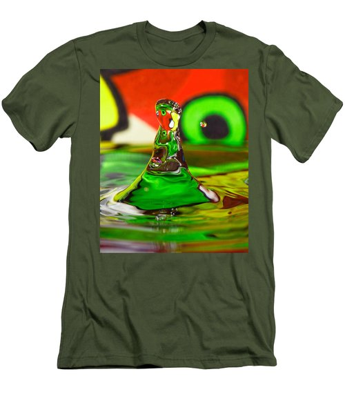 Men's T-Shirt (Slim Fit) featuring the photograph Water Mountain by Peter Lakomy