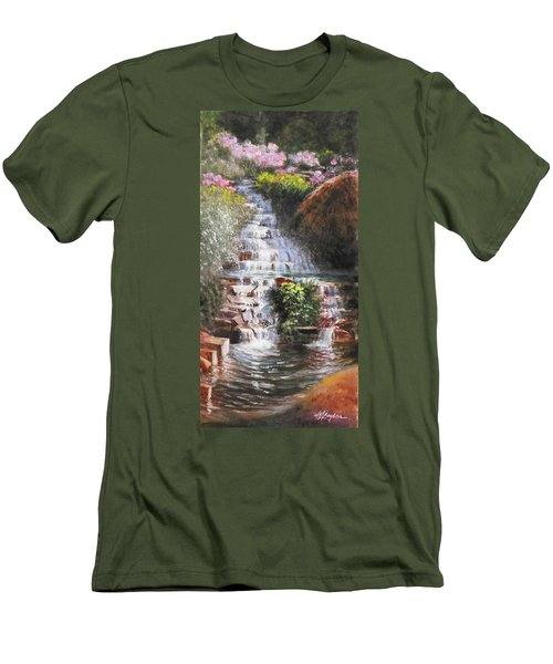 Waterfall Garden Men's T-Shirt (Athletic Fit)