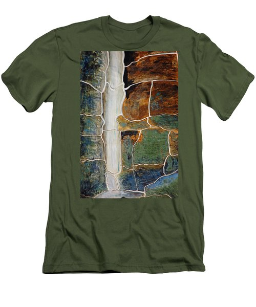 Waterfall Slate Men's T-Shirt (Slim Fit)