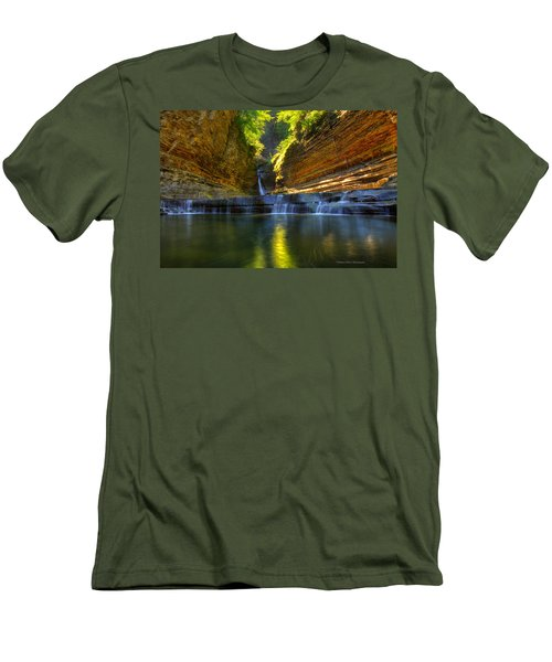 Waterfalls At Watkins Glen State Park Men's T-Shirt (Athletic Fit)