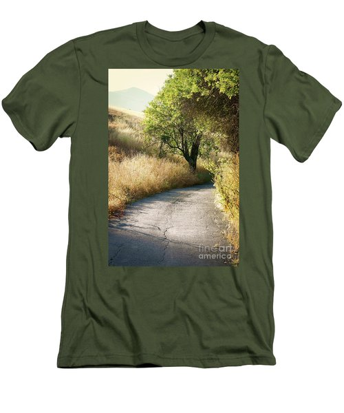 Men's T-Shirt (Slim Fit) featuring the photograph We Will Walk This Path Together by Ellen Cotton