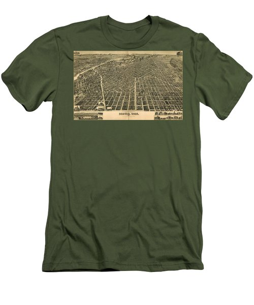 Wellge's Birdseye Map Of Denver Colorado - 1889 Men's T-Shirt (Athletic Fit)