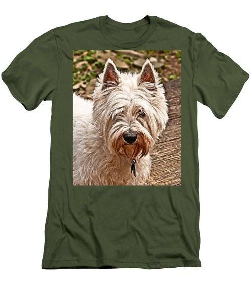 Men's T-Shirt (Slim Fit) featuring the photograph West Highland White Terrier by Robert L Jackson