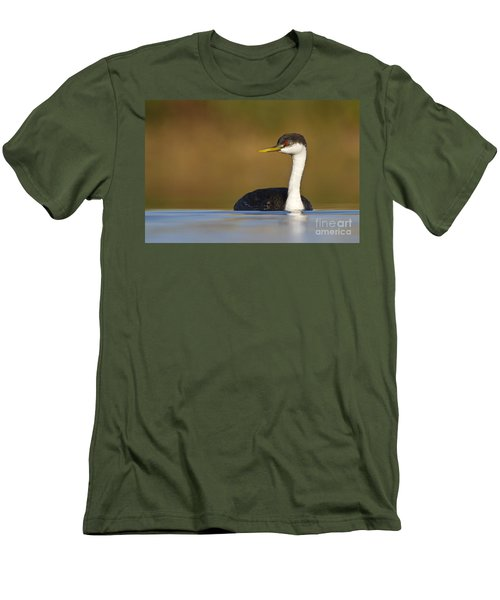 Men's T-Shirt (Slim Fit) featuring the photograph Western Grebe On The Lake by Bryan Keil