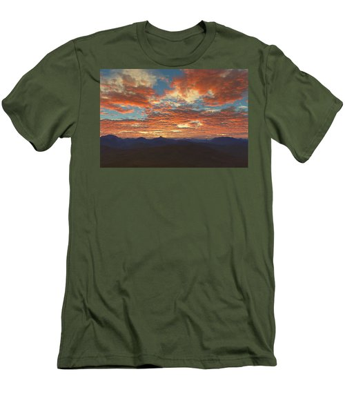 Men's T-Shirt (Slim Fit) featuring the digital art Western Sunset by Mark Greenberg
