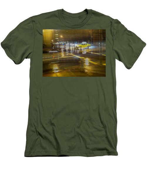 Men's T-Shirt (Slim Fit) featuring the photograph Wet Pavement by Alex Lapidus
