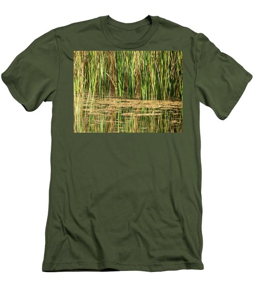 Men's T-Shirt (Slim Fit) featuring the photograph Wetlands by Laurel Powell