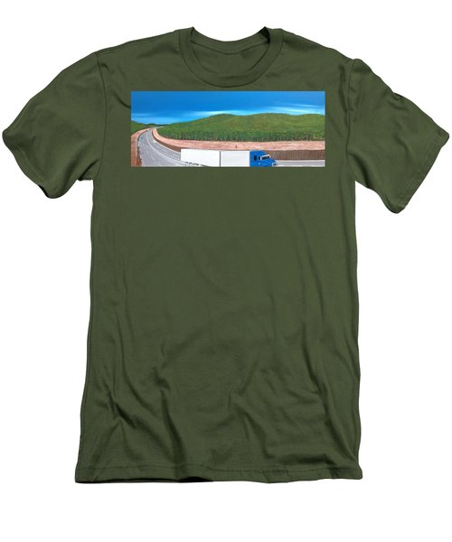 Men's T-Shirt (Slim Fit) featuring the painting What Happened To My Homeland by Tim Mullaney