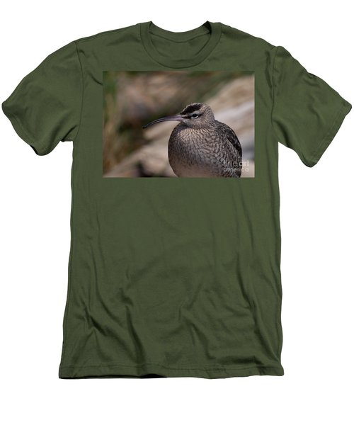 Men's T-Shirt (Slim Fit) featuring the photograph Whimbrel by Bianca Nadeau