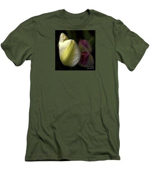 Whispering Tulips Men's T-Shirt (Slim Fit) by Jean OKeeffe Macro Abundance Art