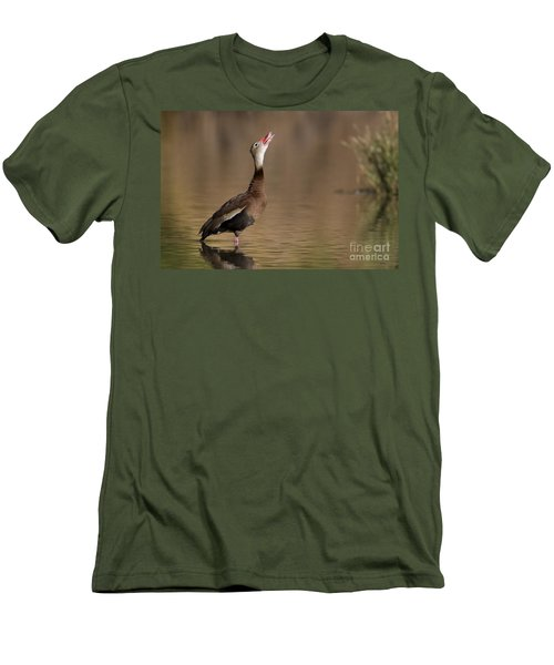 Whistling Duck Whistling Men's T-Shirt (Athletic Fit)