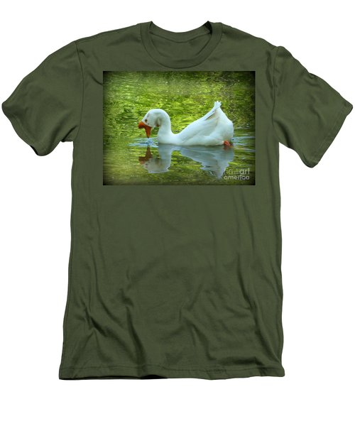 White Chinese Goose Curtsy  Men's T-Shirt (Athletic Fit)