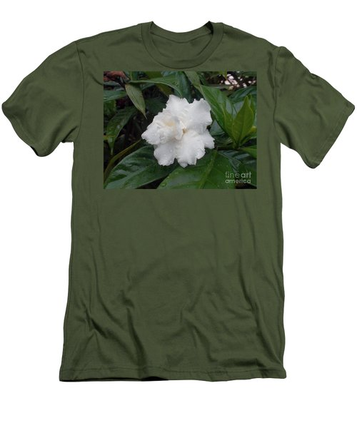 Men's T-Shirt (Slim Fit) featuring the photograph White Flower by Sergey Lukashin
