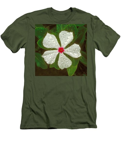 Men's T-Shirt (Slim Fit) featuring the photograph White Periwinkle by Mark Greenberg