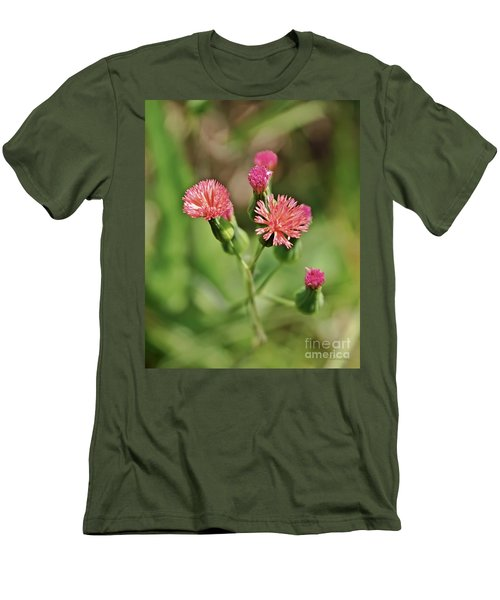 Men's T-Shirt (Slim Fit) featuring the photograph Wild Flower by Olga Hamilton