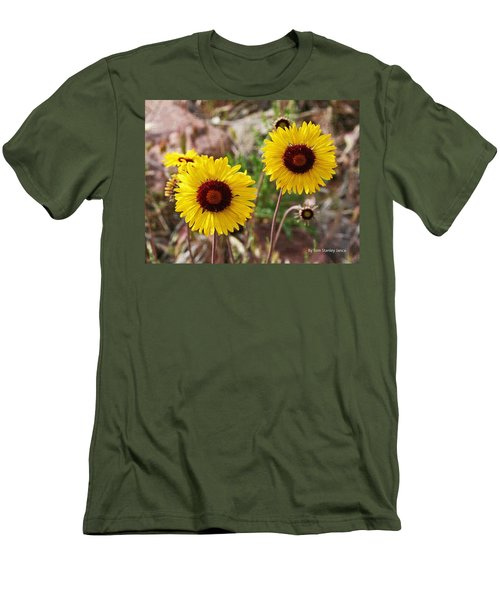 Men's T-Shirt (Slim Fit) featuring the photograph Wild Flowers Above The Rim by Tom Janca