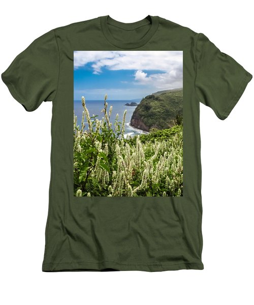 Wild Flowers At Pololu Men's T-Shirt (Slim Fit) by Denise Bird
