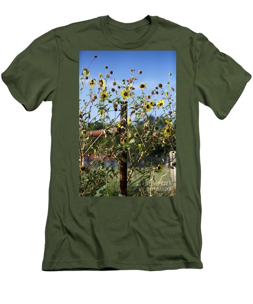 Men's T-Shirt (Slim Fit) featuring the photograph Wild Growth by Erika Weber