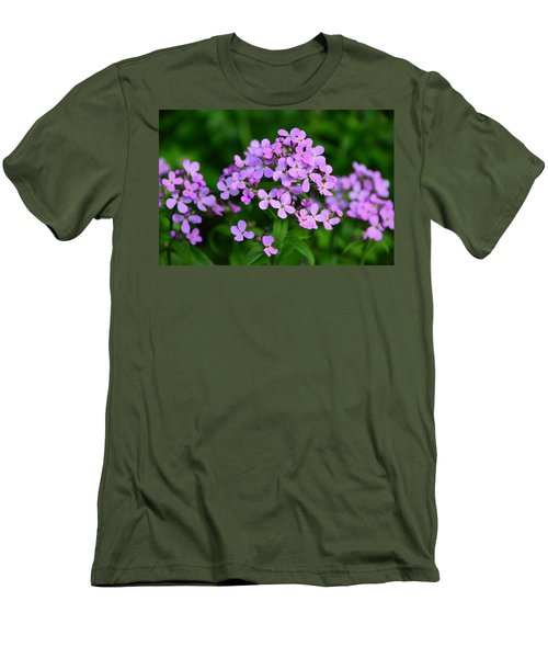 Wild Phlox Men's T-Shirt (Slim Fit) by Debra Martz