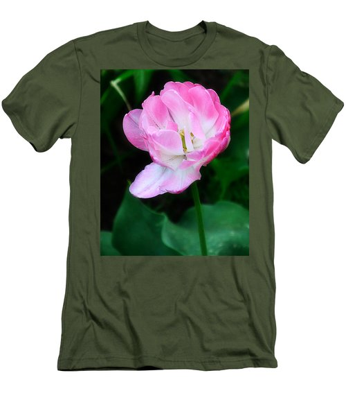Wild Pink Rose Men's T-Shirt (Athletic Fit)