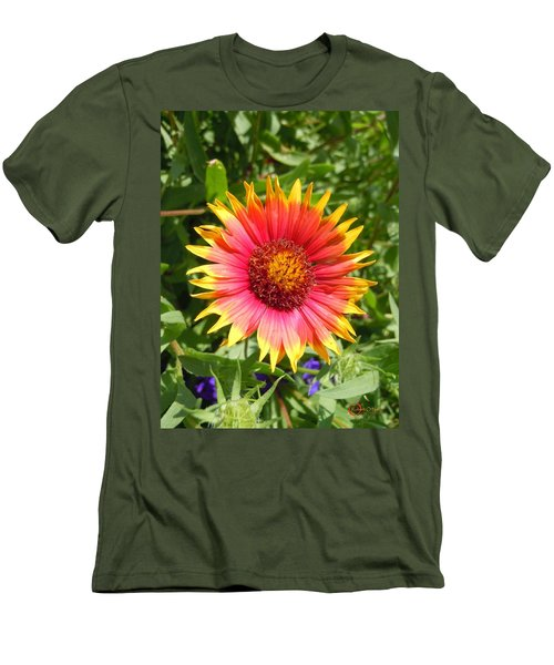 Men's T-Shirt (Slim Fit) featuring the photograph Wild Red Daisy #3 by Robert ONeil